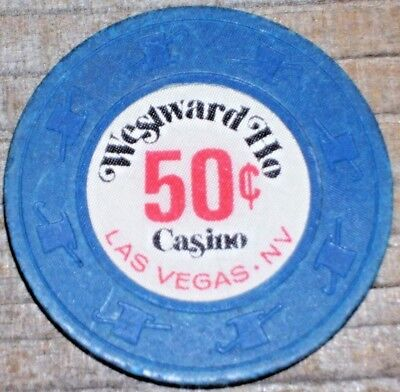 Vintage .50 Fractional Gaming Chip From The Westward Ho Casino Las Vegas