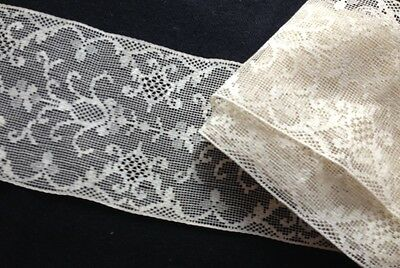 Beautiful Edwardian Remnants, Salvage of Delicate Italian Lace, Trim, Edging, In