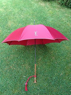 Authentic Vintage Umbrella By Yves Saint Laurent Retro Designer