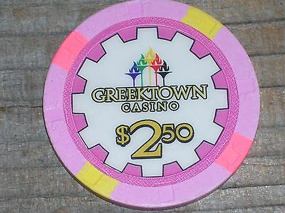 $2.50 1St Edition Gaming Chip From The Greektown Casino, Detroit