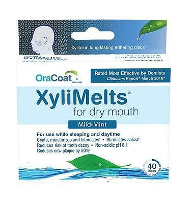 1 Box of XyliMelts for Dry Mouth, Mild-Mint 40 Count!!!