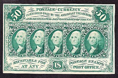US 50c Fractional Currency FR1313 w/o ABC monogram Ch AU