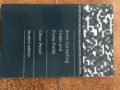 Error-Correcting Codes and Finite Fields by Oliver Pretzel (Paperback, 1996)