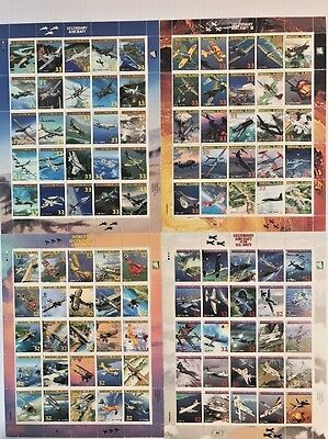 100 Mint Legendary Aircraft Of The U.S Navy Stamps-Never Hinged 1996-2000 MIPS
