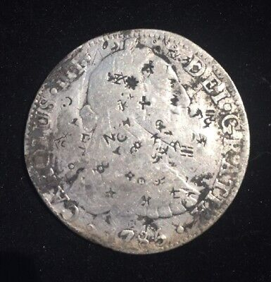1786 8 Reales Silver Coin With Chop Marks. You Grade. Mexico City Minted.
