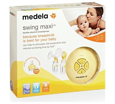 Medela Swing Maxi Double Electric Breast Pump Brand New With Calma
