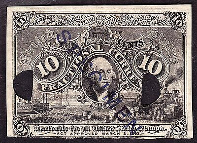 US 10c Fractional Currency Experimental Milton M2E10F2 Fiber Paper ONLY 18 KNOWN