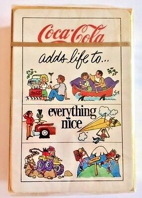 Rare Coca Cola Collectable Playing Cards Coke adds life to everything nice
