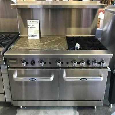 "New Heavy 60"" Range 36"" Griddle 4 Burners 2 Full Ovens Stove  Lp Prop Gas Only"