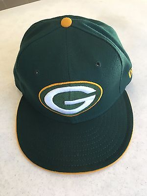 RETRO NEW ERA 5950 Green Bay Packers Yellow Sides Flat Brim Fitted ... e17003ddc