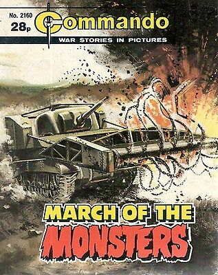 1988 No 2160 84438 Commando Comic  MARCH OF THE MONSTERS