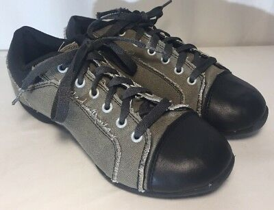 Revolution Dancewear Grey Canvas Split Sole Sneakers Women's 6.5 Style 981