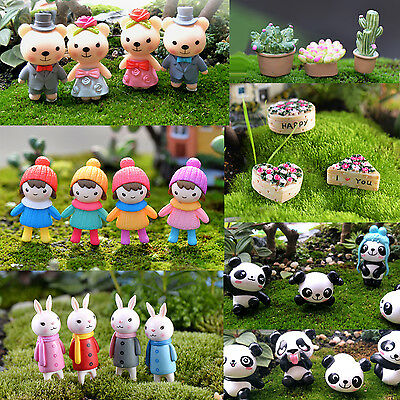Mini Dolls Character Figures ornament Toy for Miniature doll house / garden