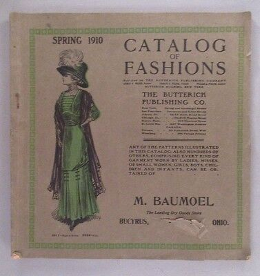 Butterick Patterns CATALOG - Spring, 1910 ~~ Store Pattern Book