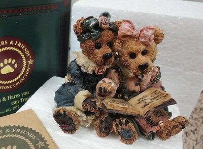 Boyd's Bears Bearstone Collection 'bailey And Becky The Diary' 20E/2371