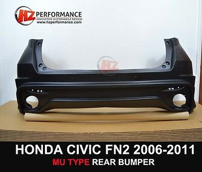 Honda Civic 2006 To 2012 Fn Fn2 Fk Mg Type Rear Bumper + Exhaust Tips