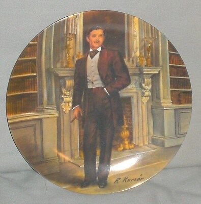 "Knowles China ""Rhett"" Gone With The Wind Plate W/COA"
