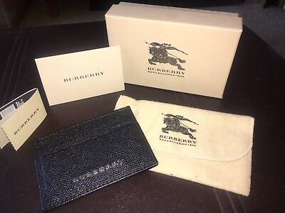 Burberry London Black Leather Card Case