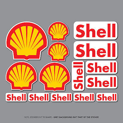 SKU2634 - Set Of 15 Shell Stickers - Decals - Car - Motorcycle Motocross Enduro