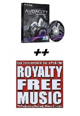 Audacity Audio editing PLUS Over - 1044 high quality royalty free music tracks !