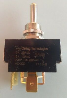 CARLING 6GO53-73/TABS Toggle Switch, DPDT, Momentary (ON)-OFF-(ON), Reversing