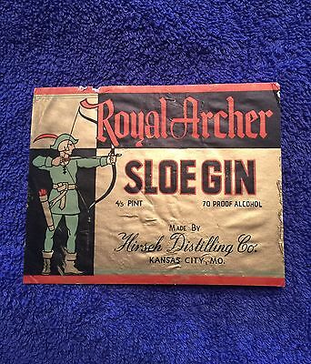 Royal Archer Sloe Gin Label- Kansas City, MO!!