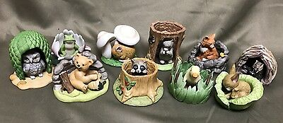 Lot 10 Franklin Woodland Surprises Animal Figurines Mouse Fox Bear Frog Beaver
