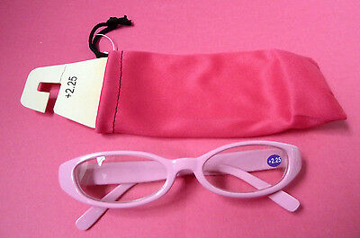 Reading Glasses With Case/readers/2.25/pink/new