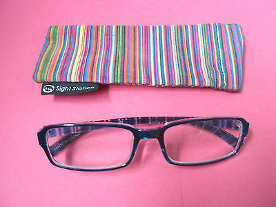 Reading Glasses With Case/readers/2.25/blue/euc