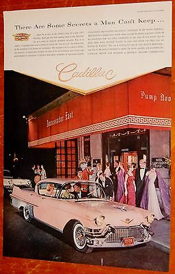 Beautiful 1957 Pink Cadillac Fleetwood Sixty Special Ad - Vintage Classic 50S