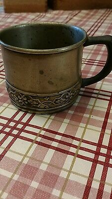 benedict sterling cup antique embossed