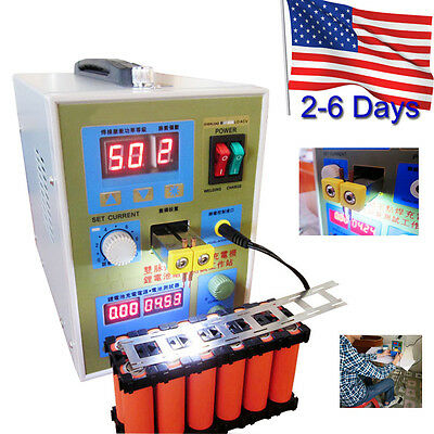 LED Dual Pulse Spot Welder 18650 Battery Charger 800A 0.1-0.2mm 36V 60A【From US】