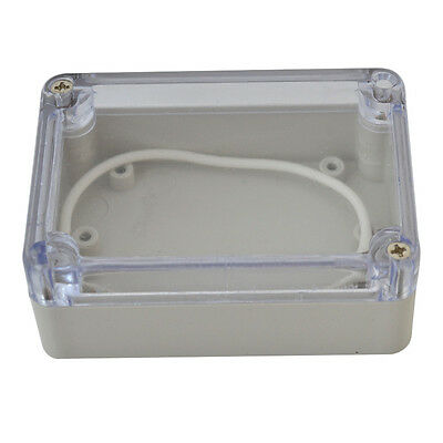 White ABS Plastic Clear Enclosure Project Box For Electronic Circuit 100*68*50mm