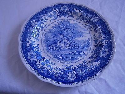 spode plate country haven blue &white