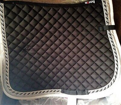 New  fancy black Dressage saddle pad with corded trim. FREE shipping in USA!!