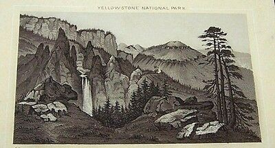 Antique Jersey Coffee Trade Card-#90 Tower Falls-Yellowstone National Park