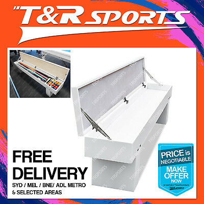Mace Bench For Dining Pool Snooker Table Storage Billiard Cues Accessories White