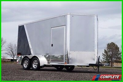 UTV 7 X 14 V-Nose Enclosed Motorcycle Cargo Trailer: Xtra Height, Side By Side