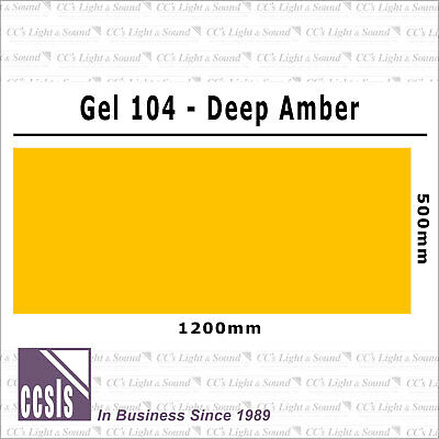 Clear Color 104 Filter Sheet - Deep Amber