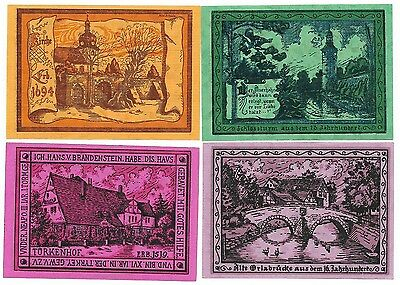 **1921 OPPURG Germany Banknote- BRILLIANT ~ Complete Set German Notgeld UNC