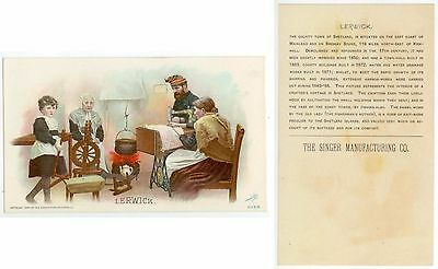 beautiful 1894 Wales trade card - Singer Sewing Co
