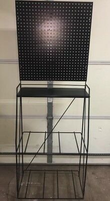 Retail Display Stand With Pegboard & Hooks