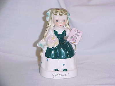 "Very Vintage Napco Goldilocks Figurine A1943 4 3/4"" Tall w/Part of Foil label"