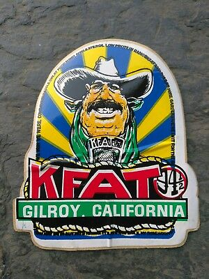 Vintage KFAT GILROY California Radio Station Sticker Original Vinyl Window Stick