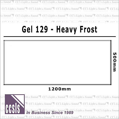 Clear Color 129 Filter Sheet - Heavy Frost