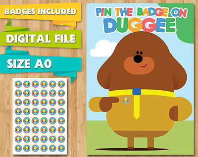 Hey Duggee Party Game Pin The Badge On Duggie Birthday Pin The Tail Digital File