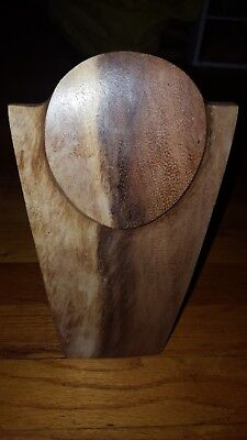 Wood Necklace Display, 10 Inch