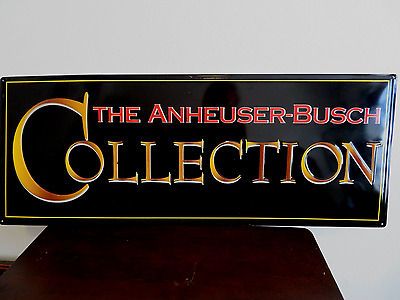 The Anheuser Busch Collection Vintage Tin Sign - Hard To Find ! MINT !