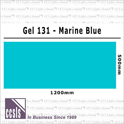 Clear Color 131 Filter Sheet - Marine Blue