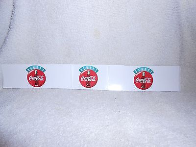 Coca Cola Peel & Stick Decals or stickers-Lot of 3-each one are 5 inches long